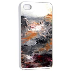 Natural Abstract Landscape Apple iPhone 4/4s Seamless Case (White)