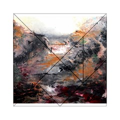 Natural Abstract Landscape Acrylic Tangram Puzzle (6  X 6 )