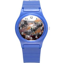 Natural Abstract Landscape Round Plastic Sport Watch (s)