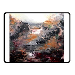 Natural Abstract Landscape Double Sided Fleece Blanket (Small)
