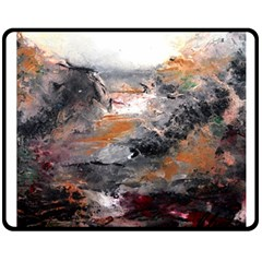 Natural Abstract Landscape Double Sided Fleece Blanket (Medium)