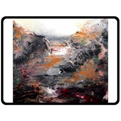 Natural Abstract Landscape Double Sided Fleece Blanket (large)
