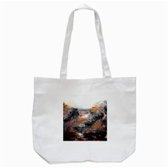 Natural Abstract Landscape Tote Bag (White)