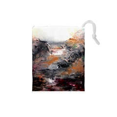 Natural Abstract Landscape Drawstring Pouches (small)