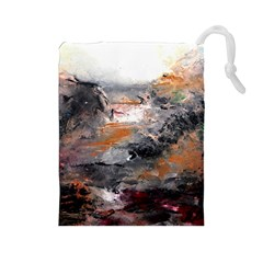 Natural Abstract Landscape Drawstring Pouches (Large)