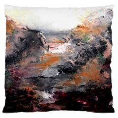 Natural Abstract Landscape Large Flano Cushion Cases (One Side)