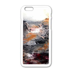 Natural Abstract Landscape Apple iPhone 6 White Enamel Case