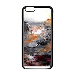 Natural Abstract Landscape Apple iPhone 6 Black Enamel Case