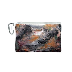 Natural Abstract Landscape Canvas Cosmetic Bag (S)