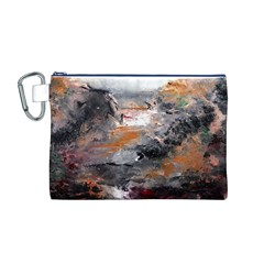 Natural Abstract Landscape Canvas Cosmetic Bag (M)