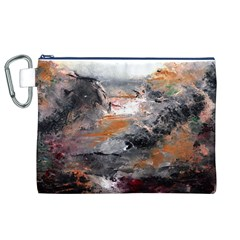 Natural Abstract Landscape Canvas Cosmetic Bag (XL)