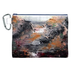 Natural Abstract Landscape Canvas Cosmetic Bag (XXL)