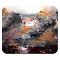 Natural Abstract Landscape Double Sided Flano Blanket (small)