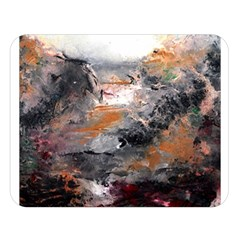 Natural Abstract Landscape Double Sided Flano Blanket (Large)