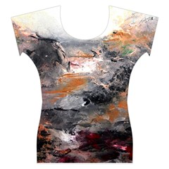 Natural Abstract Landscape Women s Cap Sleeve Top
