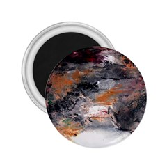 Natural Abstract Landscape No  2 2 25  Magnets