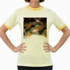 Natural Abstract Landscape No. 2 Women s Fitted Ringer T-Shirts