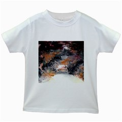 Natural Abstract Landscape No. 2 Kids White T-Shirts