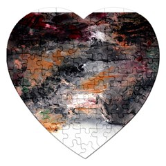 Natural Abstract Landscape No. 2 Jigsaw Puzzle (Heart)
