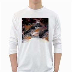 Natural Abstract Landscape No  2 White Long Sleeve T Shirts