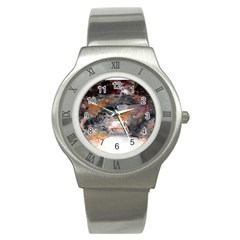 Natural Abstract Landscape No  2 Stainless Steel Watches