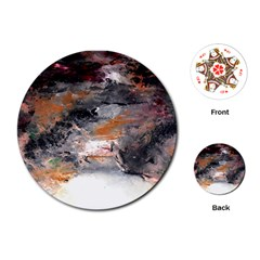 Natural Abstract Landscape No  2 Playing Cards (round)