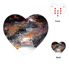 Natural Abstract Landscape No. 2 Playing Cards (Heart)