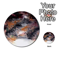 Natural Abstract Landscape No. 2 Multi-purpose Cards (Round)