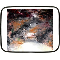 Natural Abstract Landscape No. 2 Fleece Blanket (Mini)