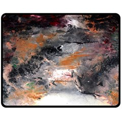 Natural Abstract Landscape No. 2 Fleece Blanket (Medium)