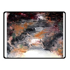 Natural Abstract Landscape No. 2 Fleece Blanket (Small)