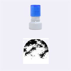 Natural Abstract Landscape No  2 Rubber Round Stamps (small)