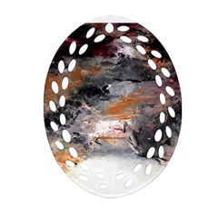 Natural Abstract Landscape No  2 Oval Filigree Ornament (2 Side)