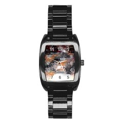 Natural Abstract Landscape No  2 Stainless Steel Barrel Watch