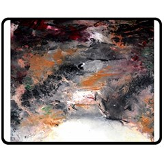Natural Abstract Landscape No. 2 Double Sided Fleece Blanket (Medium)