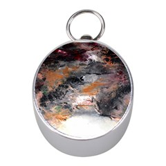 Natural Abstract Landscape No. 2 Mini Silver Compasses