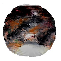 Natural Abstract Landscape No. 2 Large 18  Premium Flano Round Cushions