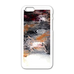 Natural Abstract Landscape No  2 Apple Iphone 6 White Enamel Case