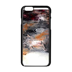 Natural Abstract Landscape No  2 Apple Iphone 6 Black Enamel Case