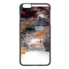Natural Abstract Landscape No. 2 Apple iPhone 6 Plus Black Enamel Case