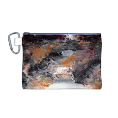 Natural Abstract Landscape No. 2 Canvas Cosmetic Bag (M)