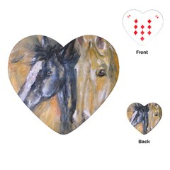 2 Horses Playing Cards (heart)