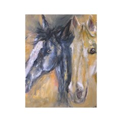2 Horses Shower Curtain 48  x 72  (Small)