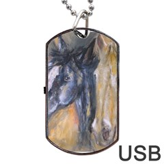 2 Horses Dog Tag Usb Flash (two Sides)