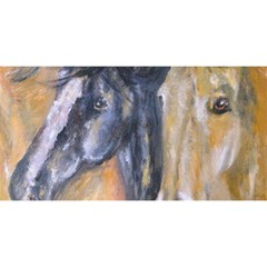 2 Horses You Are Invited 3d Greeting Card (8x4)