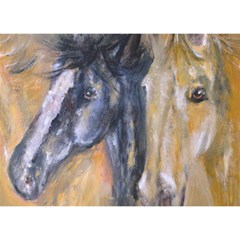 2 Horses Birthday Cake 3D Greeting Card (7x5)