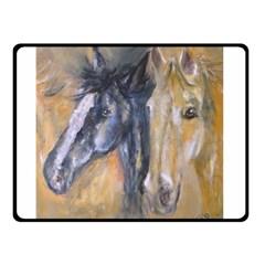 2 Horses Double Sided Fleece Blanket (Small)