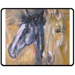 2 Horses Double Sided Fleece Blanket (medium)