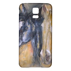 2 Horses Samsung Galaxy S5 Back Case (White)
