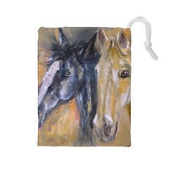 2 Horses Drawstring Pouches (Large)